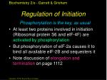 regulation of initiation