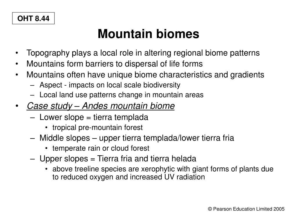 Mountain biomes
