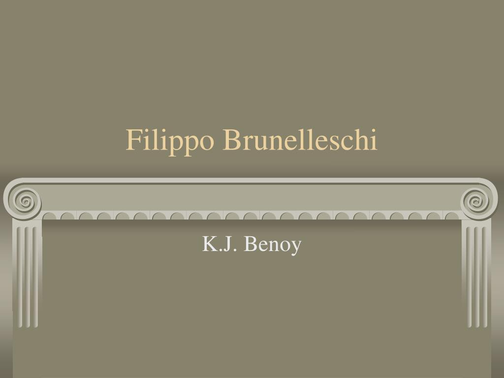 filippo brunelleschi l.