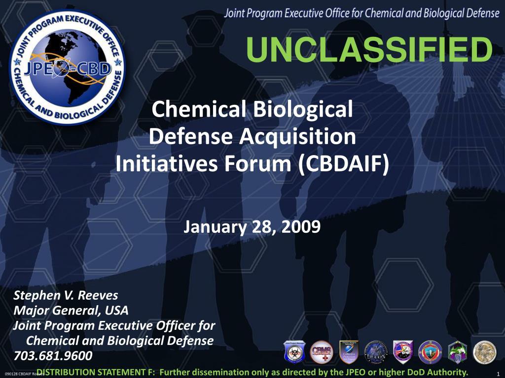 chemical biological defense acquisition initiatives forum cbdaif l.