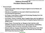 defense priorities of president obama cont d