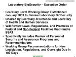 laboratory biosecurity executive order