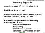 new army regulation