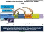 the defense acquisition management system 2008