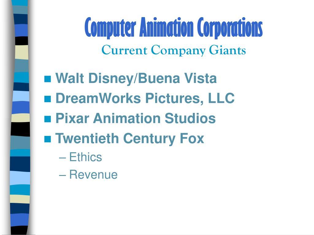 Computer Animation Corporations