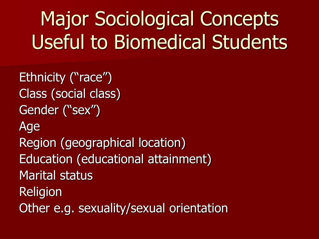 discuss social class gender marital status