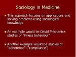sociology in medicine
