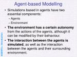 agent based modelling37