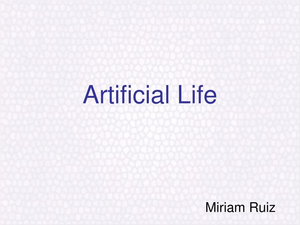 artificial life l.