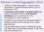diffusion limited aggregation dla
