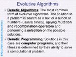 evolutive algorithms