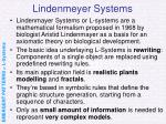 lindenmeyer systems