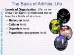 the basis of artificial life10