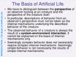 the basis of artificial life11