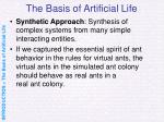 the basis of artificial life8