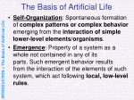 the basis of artificial life9
