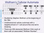 wolfram s cellular automata