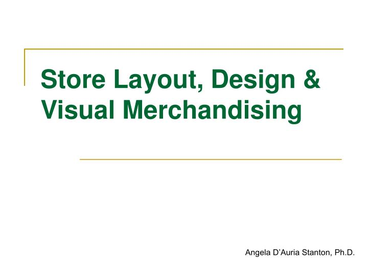 store layout design visual merchandising n.