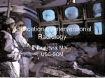 application of interventional radiology