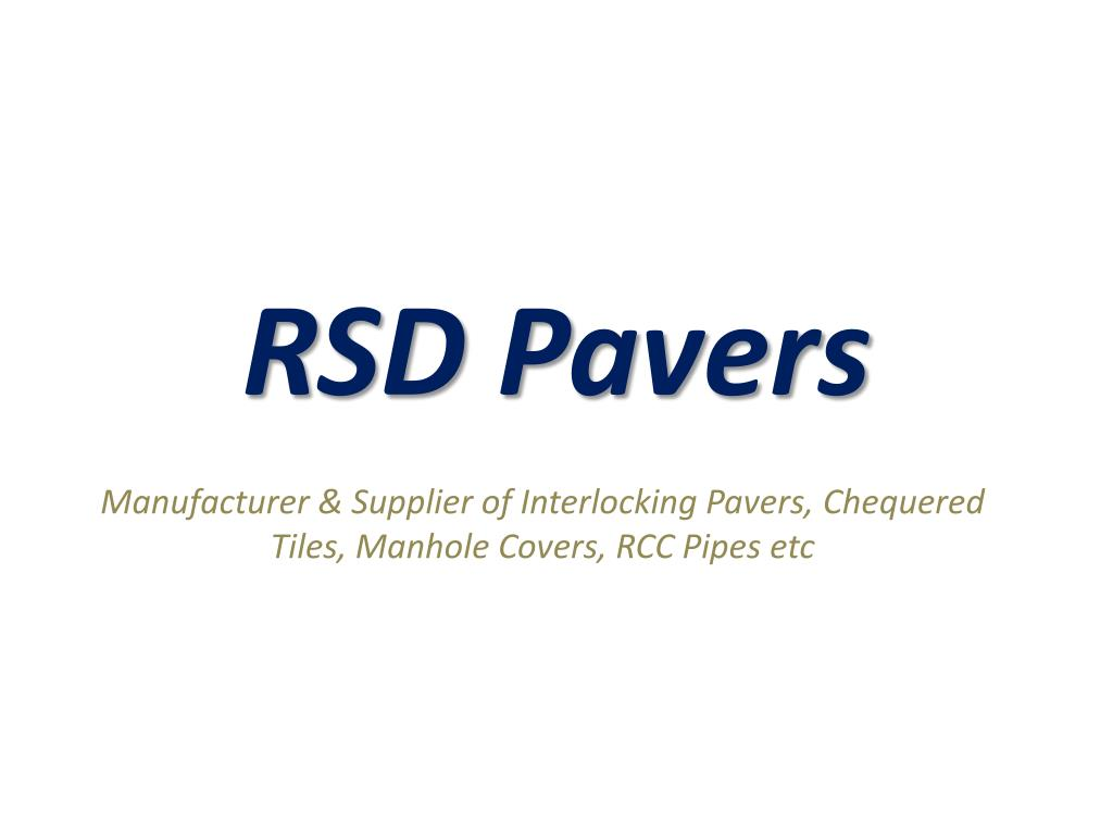 rsd pavers l.