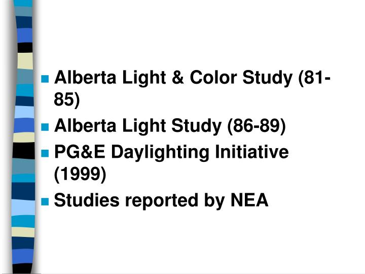 Alberta Light & Color Study (81-85)