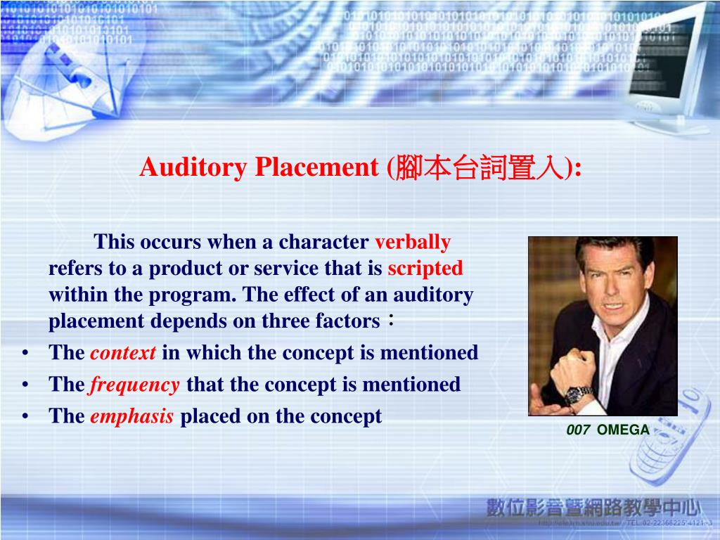 Auditory Placement (