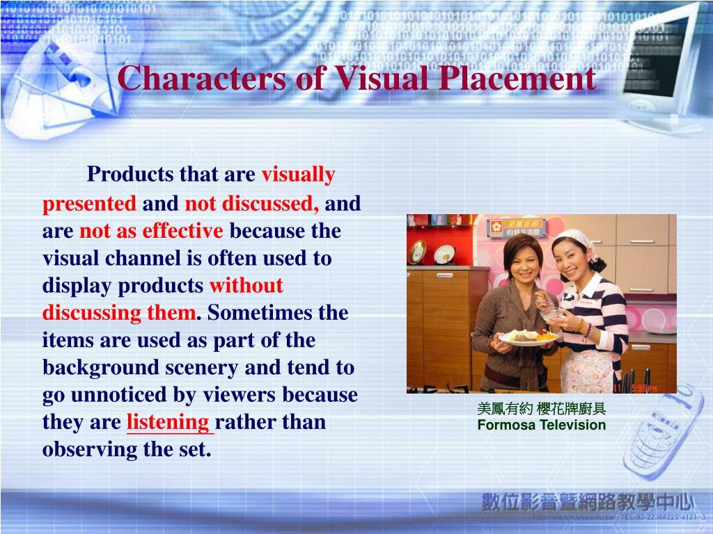 Characters of Visual Placement