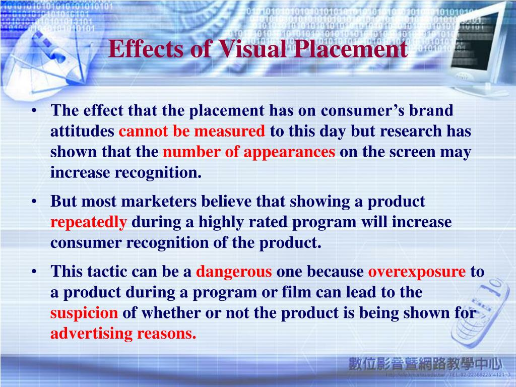 Effects of Visual Placement