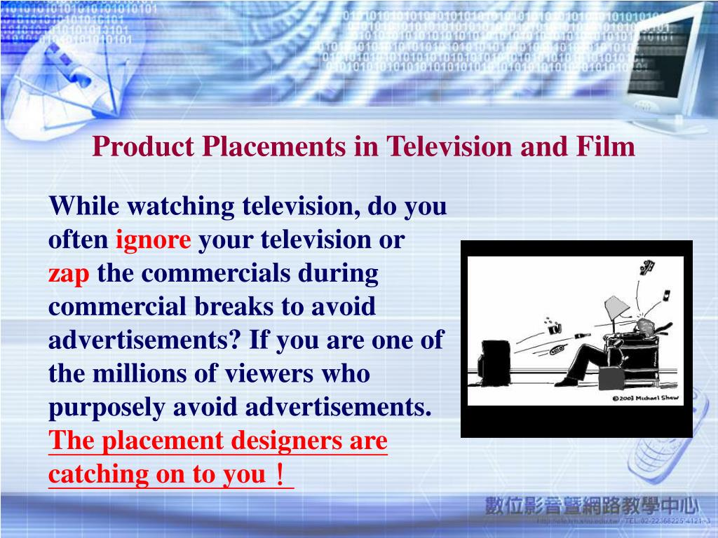 Product Placements in Television and Film