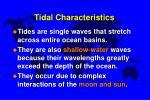 tidal characteristics