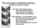 film and cinema in wilhelmine germany the birth of german cinema