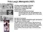 fritz lang s metropolis 1927