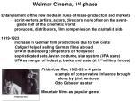 weimar cinema 1 st phase