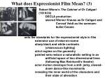 what does expressionist film mean 3