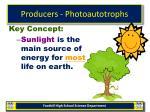 producers photoautotrophs