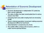 retardation of economic development