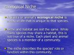 ecological niche