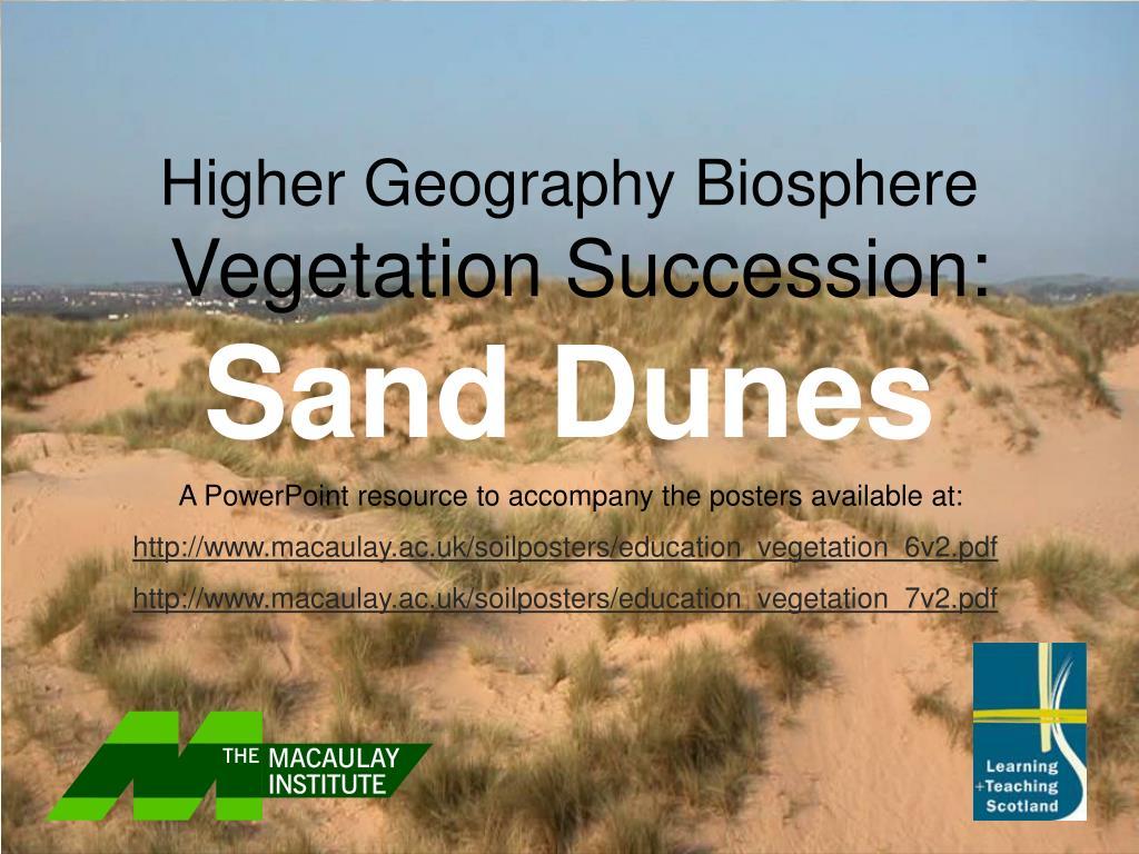 higher geography biosphere vegetation succession sand dunes l.