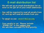 e mail distribution list