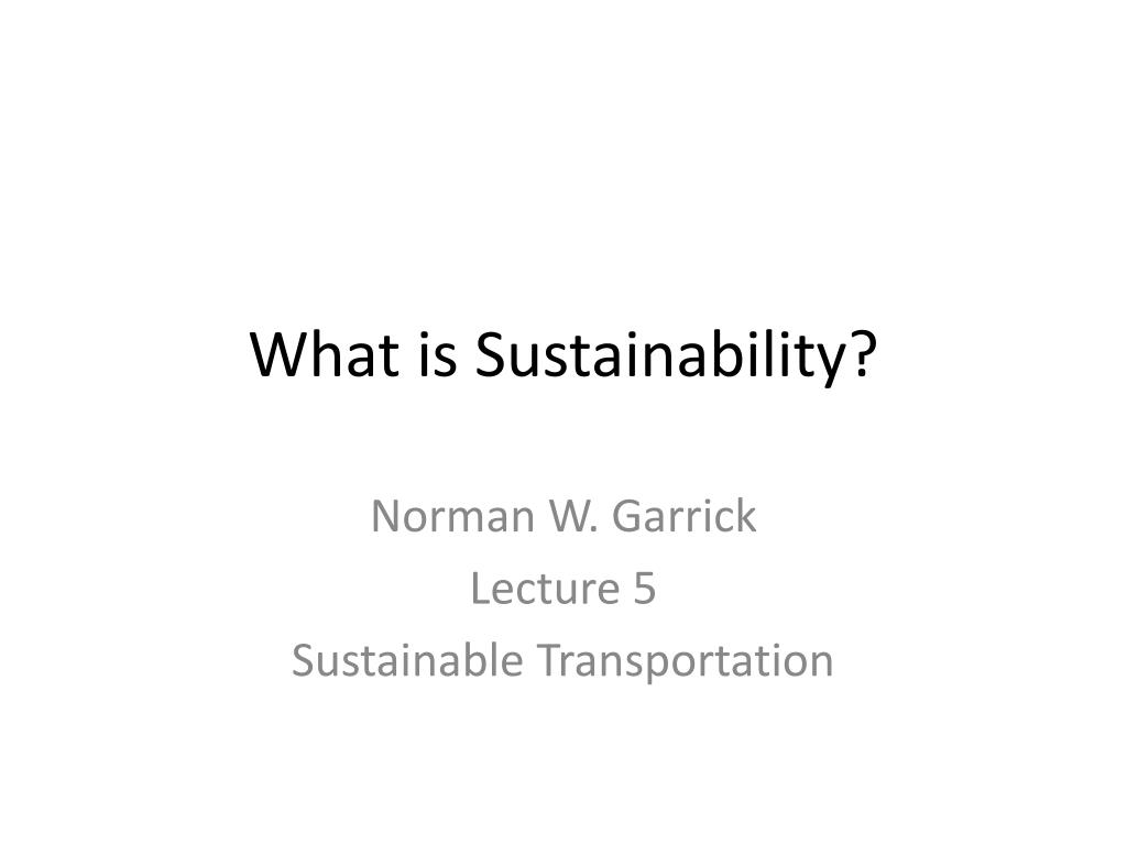 what is sustainability l.