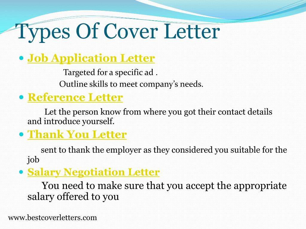 PPT - Sample cover letters PowerPoint Presentation - ID:217216