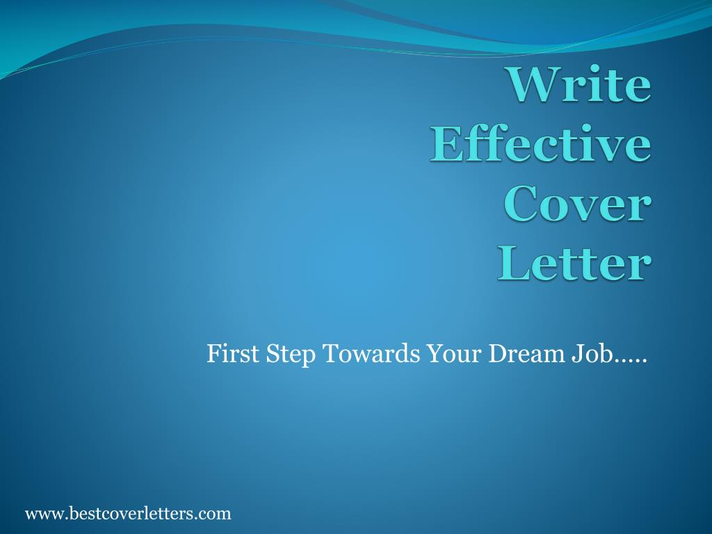 write effective cover letter l.