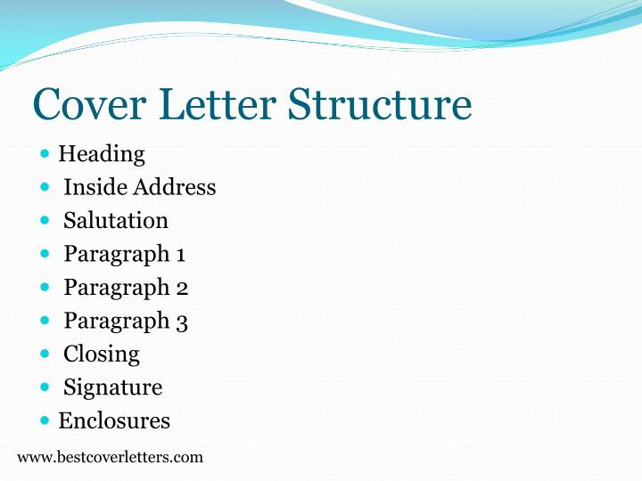Cover letter structure