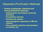 separation purification methods