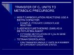 transfer of c 1 units to metabolic precursors