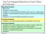 the full fledged statement of cash flows an overview