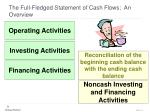 the full fledged statement of cash flows an overview21