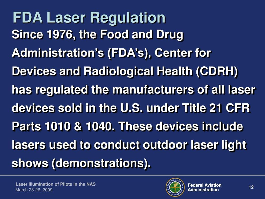 FDA Laser Regulation