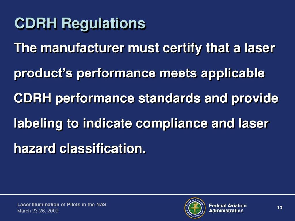 CDRH Regulations
