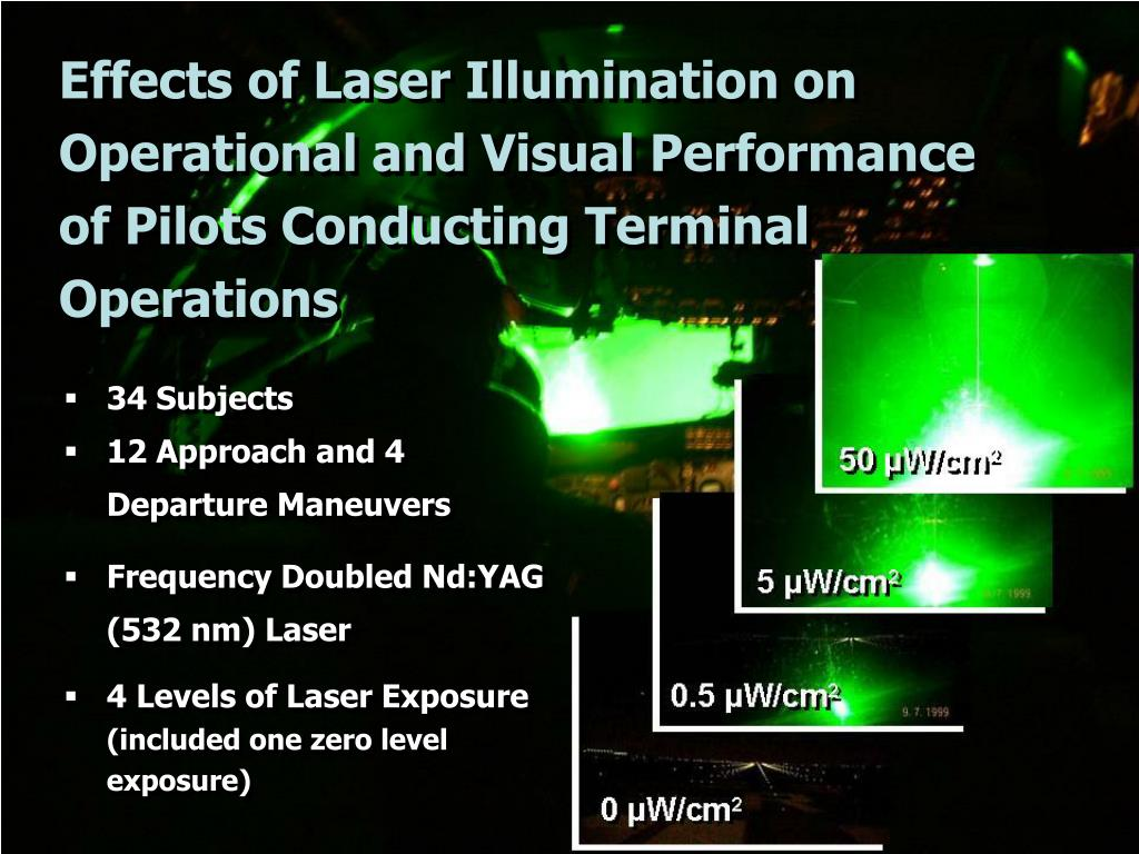 Effects of Laser Illumination on Operational and Visual Performance of Pilots Conducting Terminal Operations